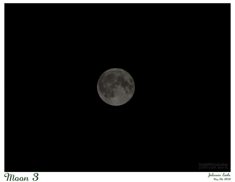 """Moon 3  Photo of the """"Super Moon"""" - close to perigee.  Perigee was 6 hours ago; at that time, the moon was about 14% bigger and 30% brighter than average.  Pacifica, CA, 2012 May 06"""