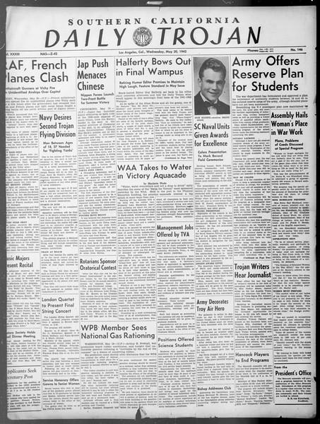 Daily Trojan, Vol. 33, No. 146, May 20, 1942