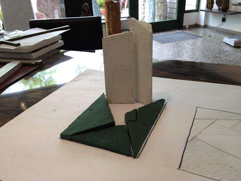 Modell Urnengrabanlage