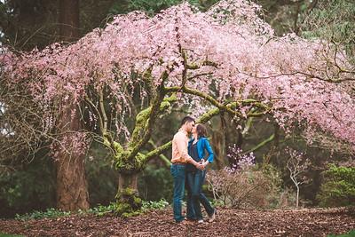 UW Arboretum Engagement Shoot | Natalie + Andrew | Seattle Wedding Photographer