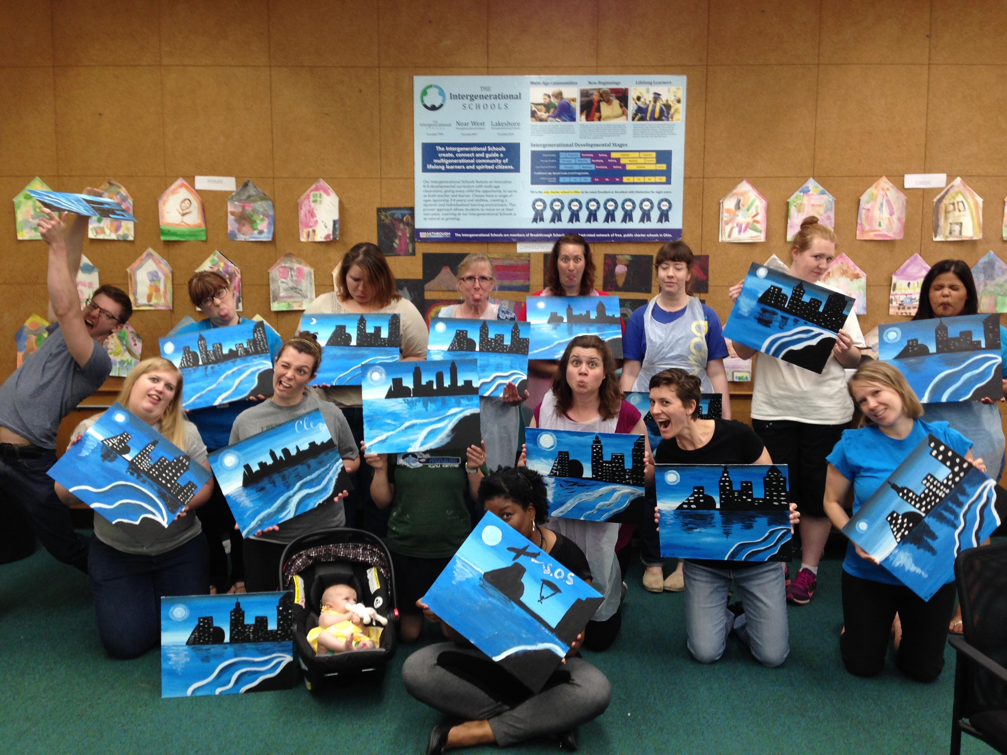 Lakeshore Intergenerational School Painting Event 6/2/16