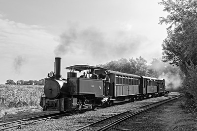 John Fowler 0-4-2 Sacharine leads passenger towards New BarnSta with CSR &Co Ltd 0-6-0 No 11 on the back BW