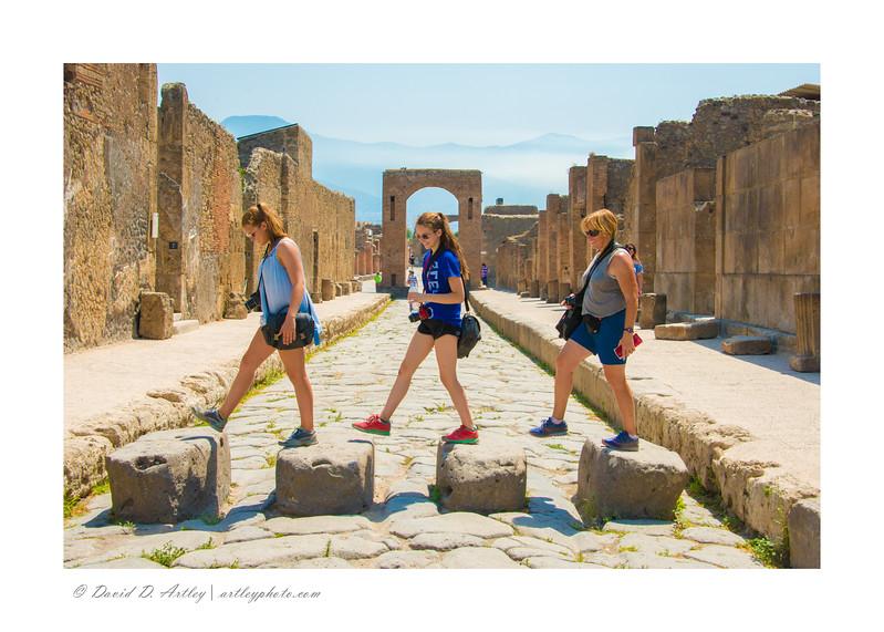 Street crossing stones, Pompeii, Italy