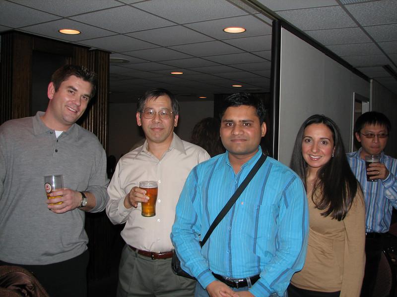 Marc Kozlowski, Ben Wang, Vaibhav Patle, Erica Taibi, and David Tai, having a great time.