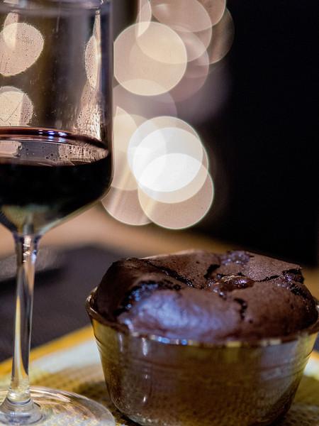 Souffle with a molten chocolate centre ... mmmmm good!
