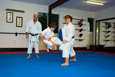 Declan at Karate Training