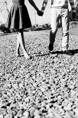 Lonny Krista Engagement BW High Res