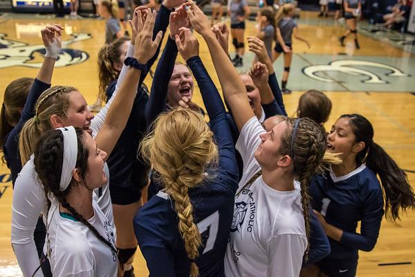 CC Varsity Volleyball vs Harrison 2016-8-18