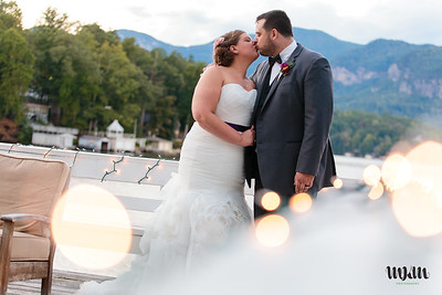 Rebecca & Ian's Disney-loving, Comics-Obsessed, Fun and Fancy-Free Lodge on Lake Lure Wedding Extravaganza