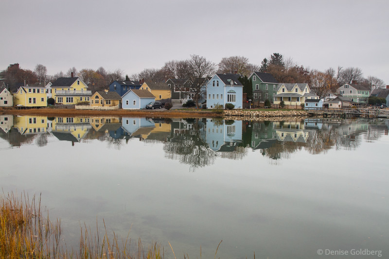 reflections in calm water, Portsmouth, NH