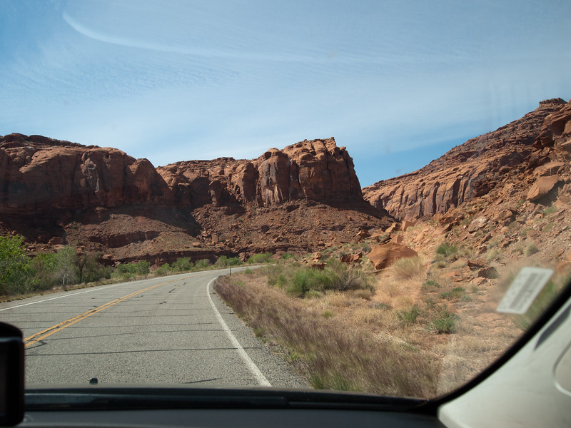5/26 - After visiting  Hite Overlook, we continued driving north to Hanksville.