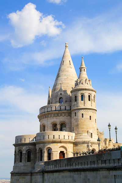 Fishermens Bastion from the side in daylight