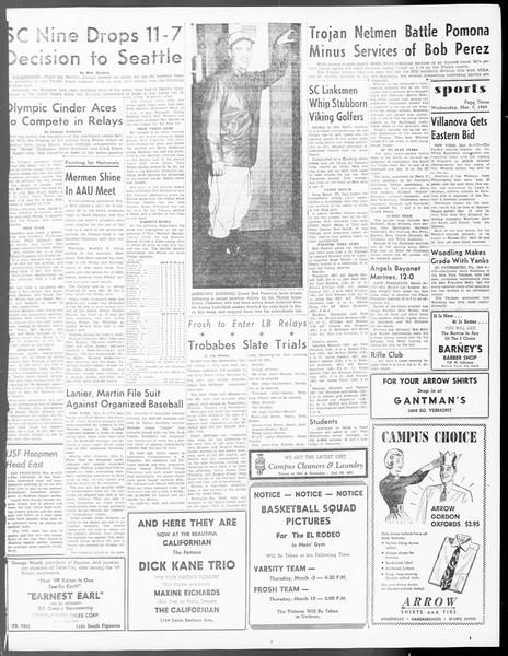 Daily Trojan, Vol. 40, No. 94, March 09, 1949