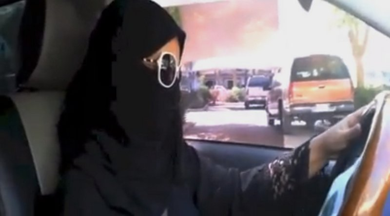 ". <p><b> A number of women in Saudi Arabia protested that country�s oppressive customs by doing this for the first time � </b> <p> A. Driving <p> B. Going outside without a burka <p> C. Speaking <p><b><a href=\'http://www.cnn.com/2013/10/26/world/meast/saudi-arabia-women-drivers/\' target=""_blank\"">HUH?</a></b> <p>    (AP Photo)"