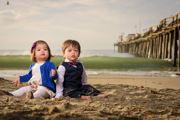 Dianne, Sam and Twin Toddlers (Family Portrait Photography) @ Capitola Beach