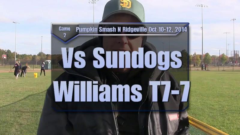 Pumpkin Smash Oct 10-12, 2014 Game 2 vs Sundogs Williams T7-7.mp4