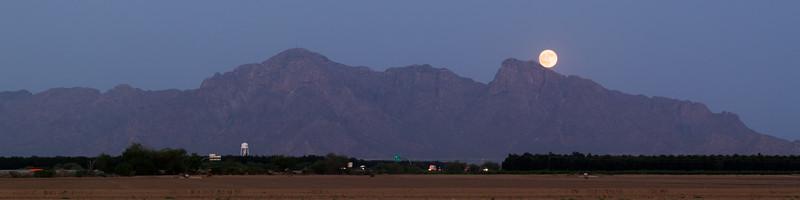 Moonrise Over Eloy, AZ