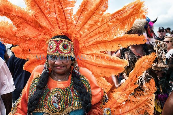 Golden Sioux, Wild Apaches, and Black Seminole Mardi Gras Indians parade (Fri 4/28/17)