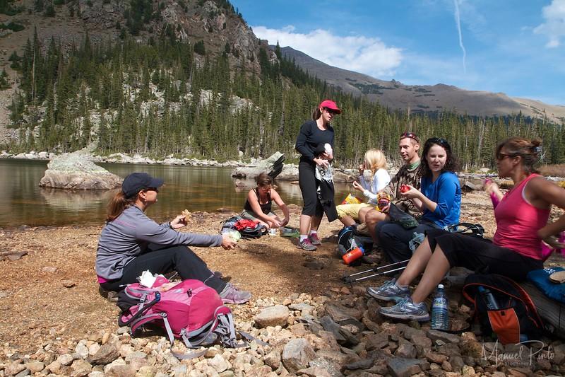 Lunch at Lake Ypsilon