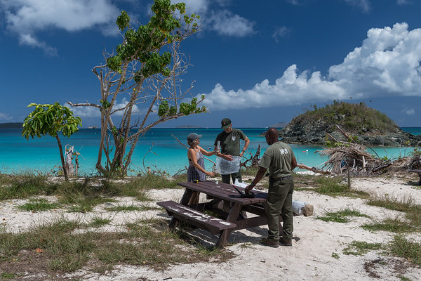 St John Shade Project at Trunk Bay