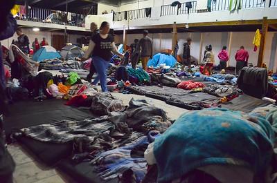 Tijuana, Mexico - Barretal Refugee Camp