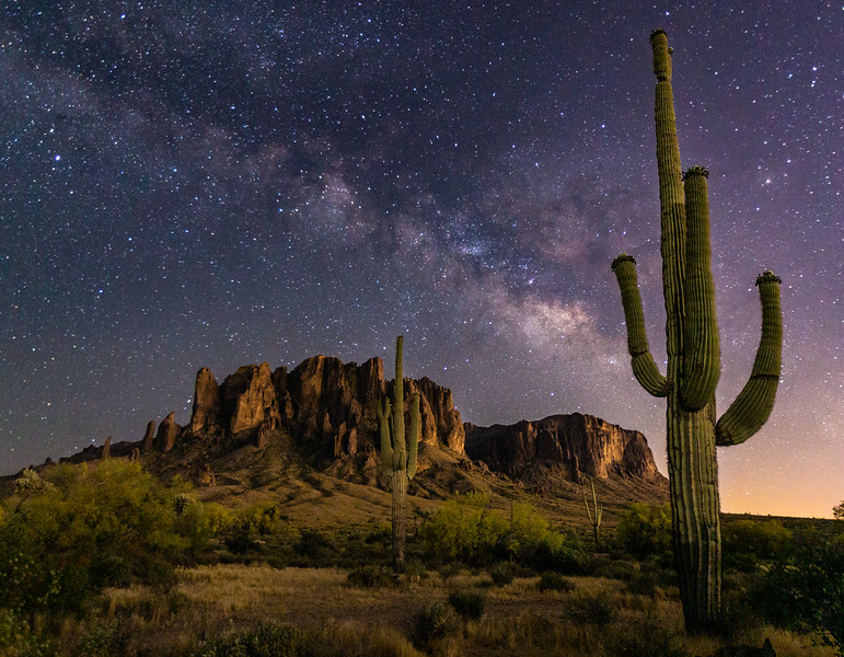 Milky way at the Superstition Mountains