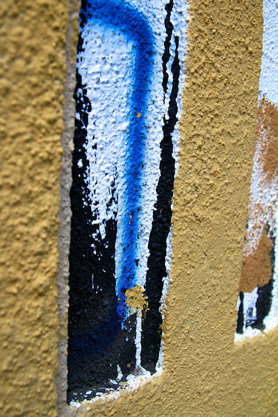 Enjoying our quirky and fun  PDX, July 2012 RANDOM COLOR ON A WALL