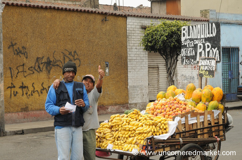 Thumbs Up for Fruit - Lima, Peru