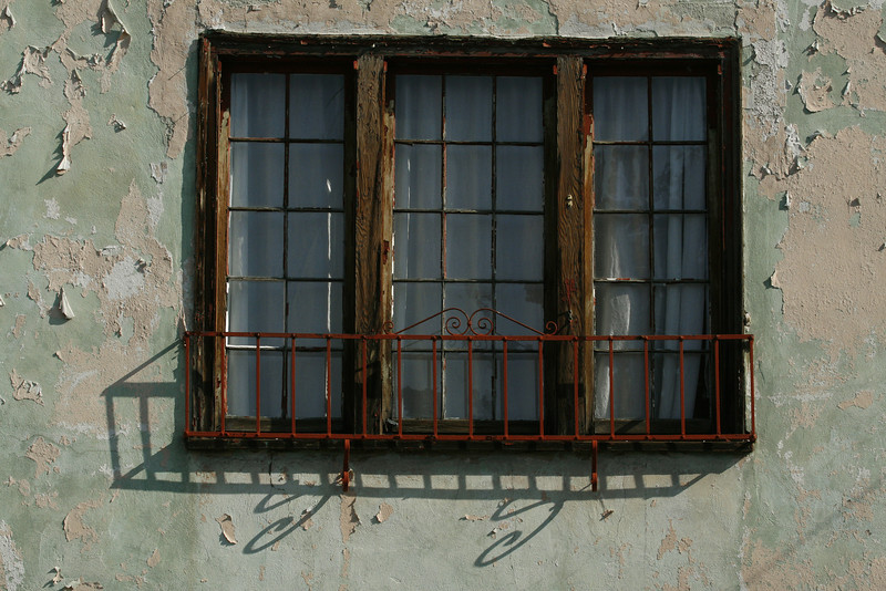 A old window in Silver Lake, Calif.