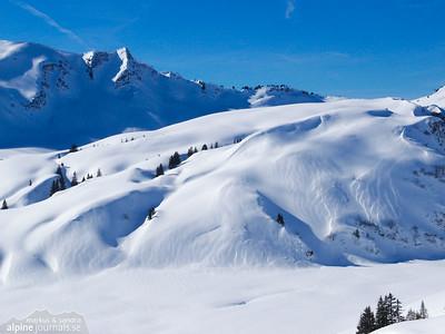 Hählekopf ski tour, Kleinwalsertal 2012-02-18