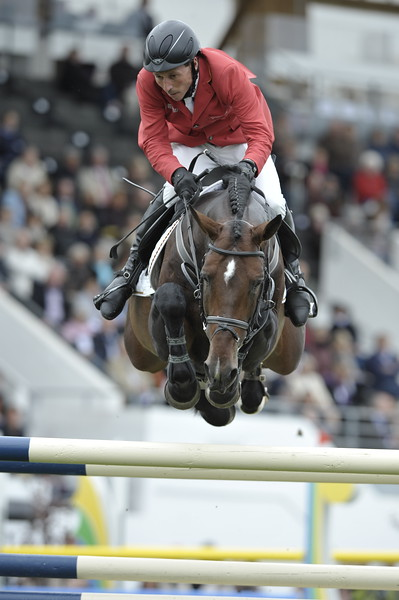 JUMPING : Hans Dieter DREHER sur Magnus Romeo COUPE DES NATIONS 2012 -  CSIO DE LA BAULE 2012 - PHOTO : © CHRISTOPHE BRICOT