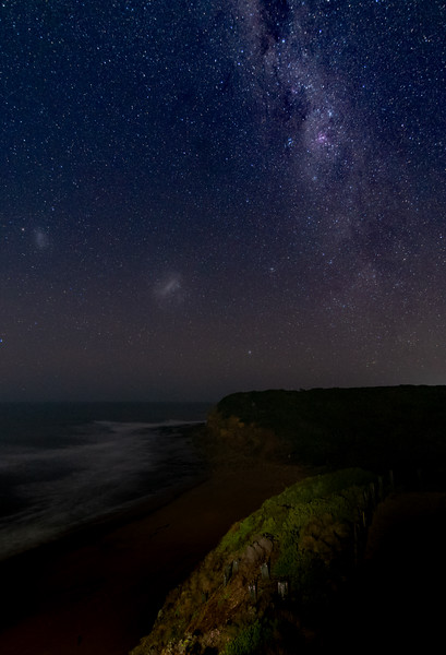 The milkyway over Bells Beach