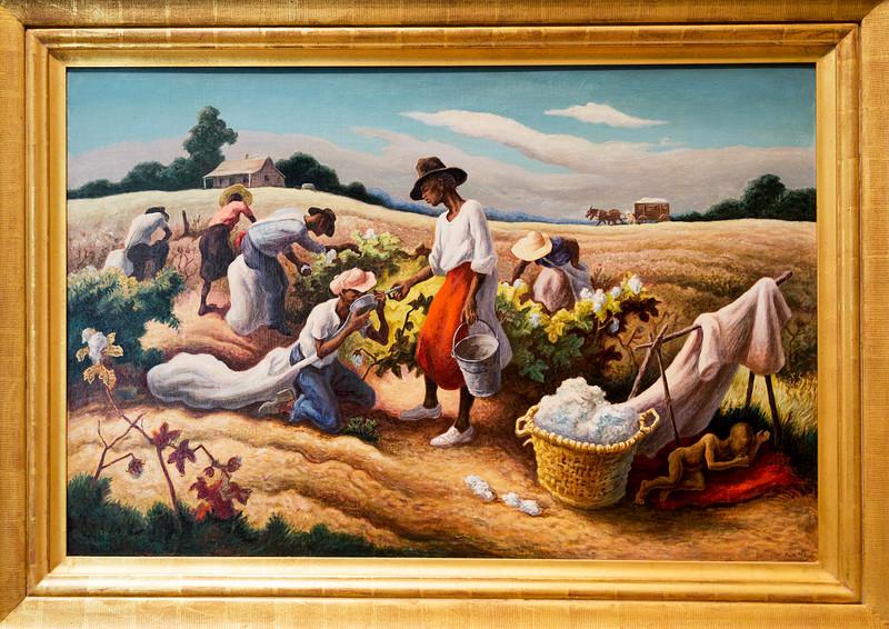 """Thomas Hart Benton's, """"Cotton Pickers,"""" 1945"""