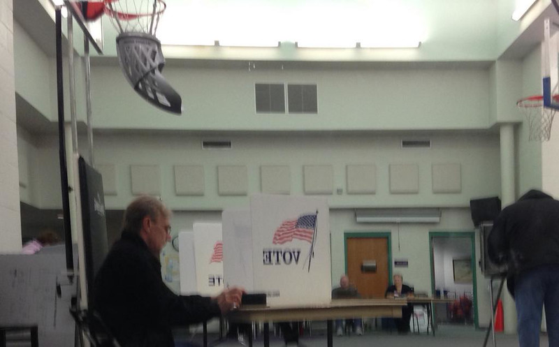 . Reporter Charlie Crumm was voter number 18 at Lutes in Waterford Township.