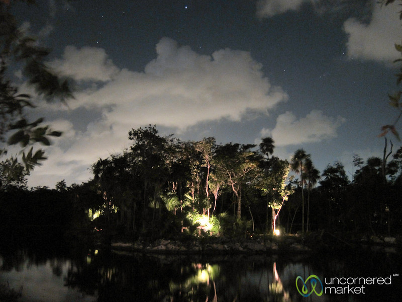 Night Time at Cenote - Blue Diamond Resort, Riviera Maya