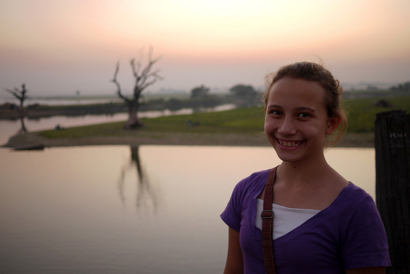Sunset and smiles on U Bein Bridge.
