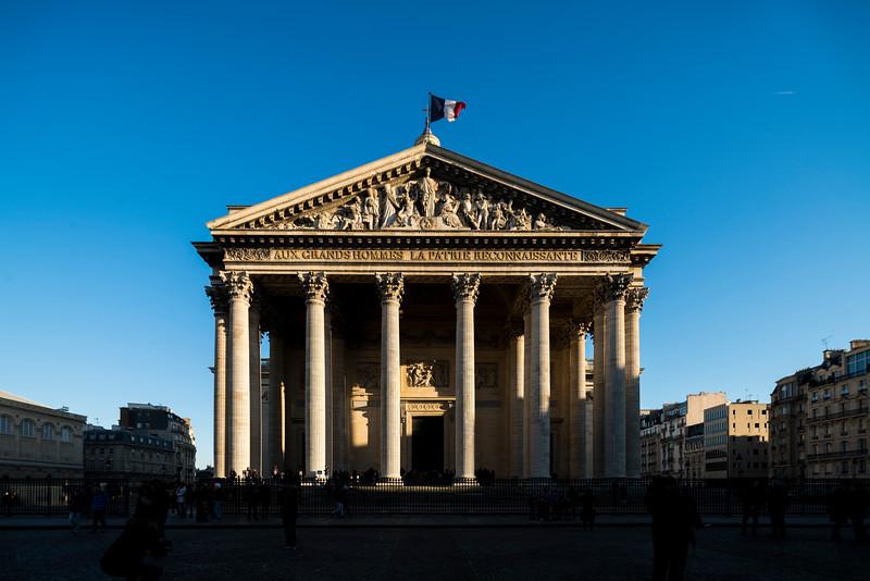 Facade of the Pantheon, Paris, France