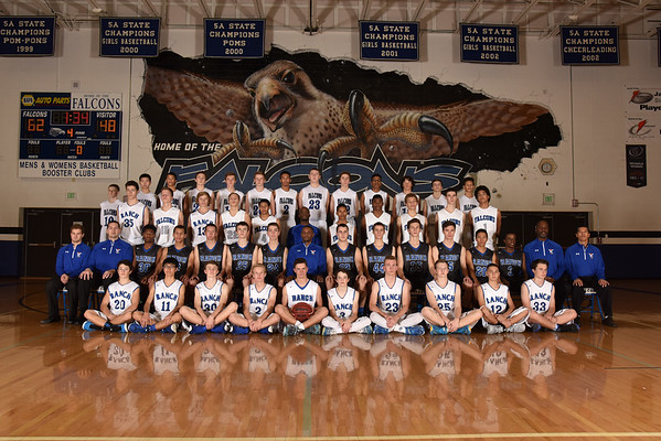 Falcon's Boys Basketball 2015-2016 Team Photos