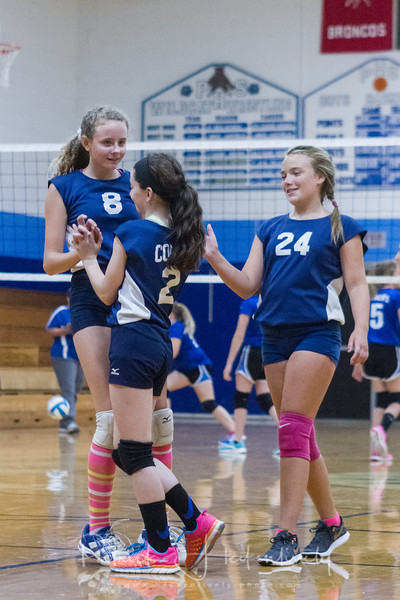 2017-09-06 Hillsdale Academy JH Volleyball vs. Pittsford