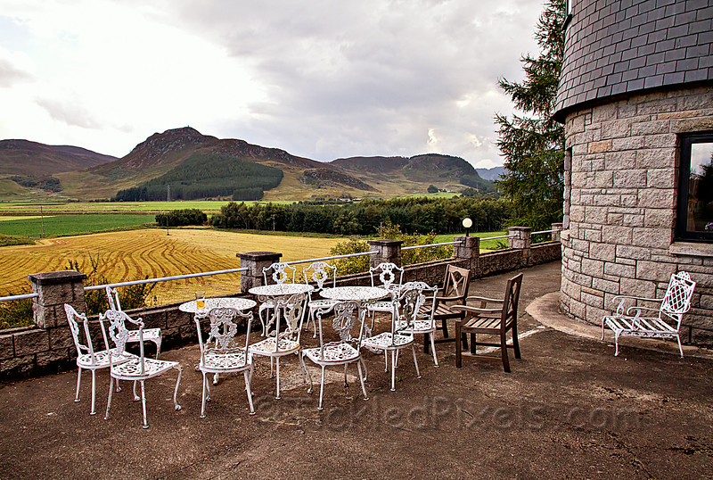 Patio at the Laggan Country Hotel