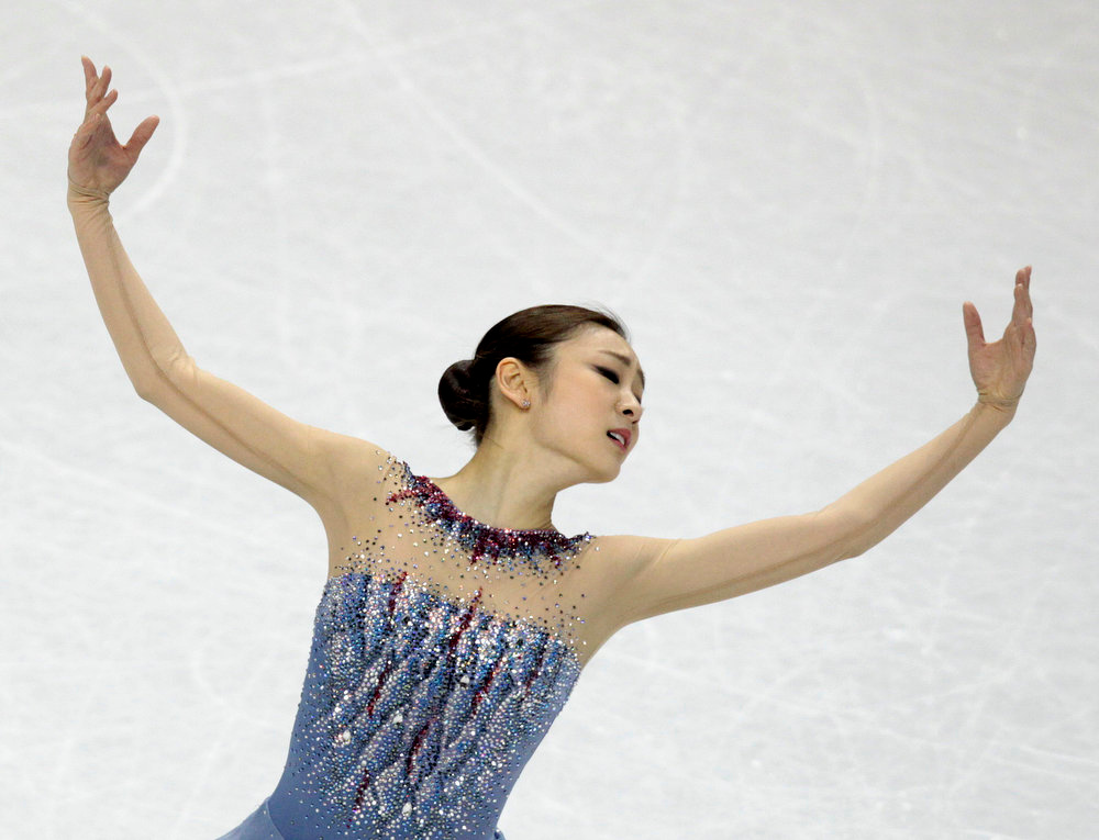 . Yuna Kim of South Korea performs during the Ladies Short Program at the ISU World Figure Skating Championships in London, Ontario, March 14, 2013. REUTERS/Fred Thornhill