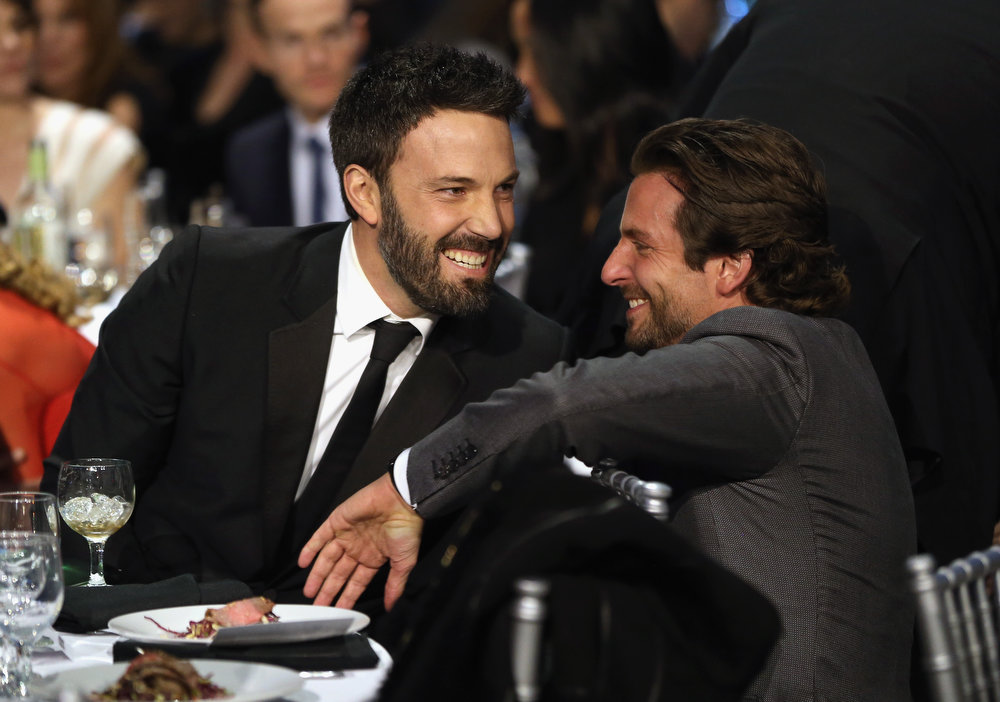 . Director Ben Affleck and actor Bradley Cooper attend the 18th Annual Critics\' Choice Movie Awards held at Barker Hangar on January 10, 2013 in Santa Monica, California.  (Photo by Christopher Polk/Getty Images for BFCA)