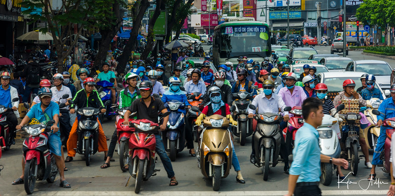 Saigon traffic.