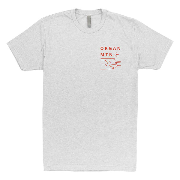 Organ Mountain Outfitters - Outdoor Apparel - Mens T-Shirt - Mesascape Tee - White Front.jpg
