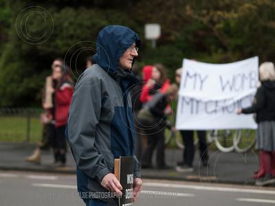 SPUC and ProChoice kerbside  vigil