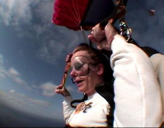 her skydiving
