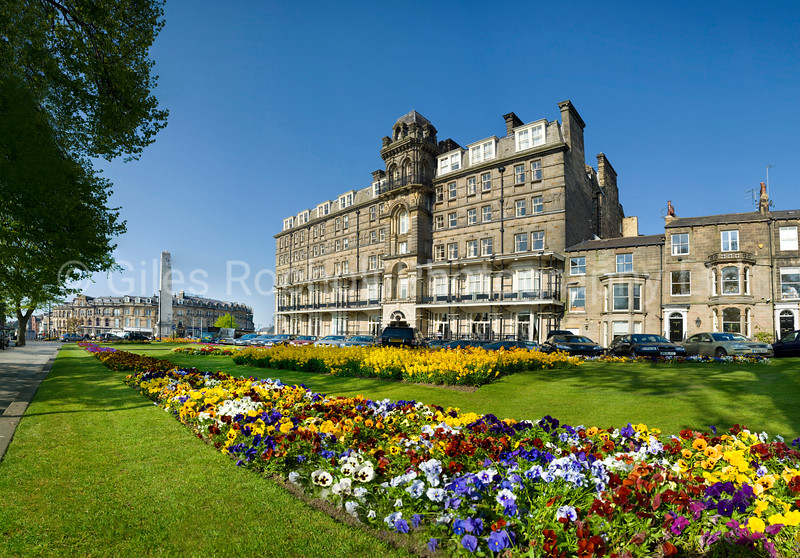 Spring flowers Prospect Place, Harrogate, North Yorkshire, United Kingdom