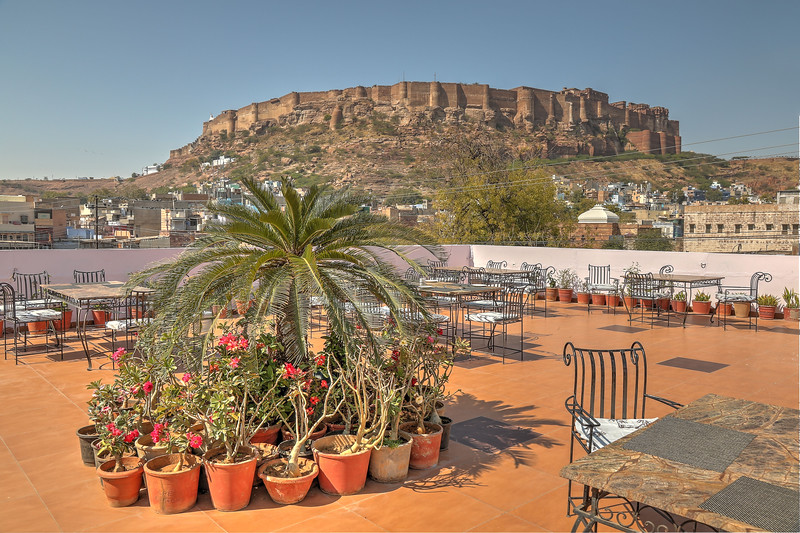 Jodhpur spreads out from the base of the mighty Mehrangarh Fort built in 1460.
