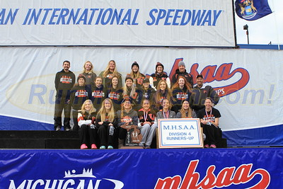 Team Awards, D4 GIRLS - 2017 MHSAA LP XC FINALS