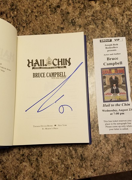 Bruce Campbell Book Signing Aug. 2017